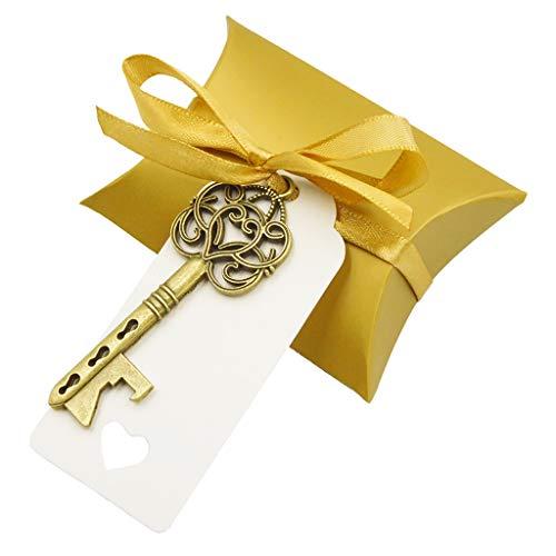ECMQS Vintage Schlüssel Flaschenöffner Papier Tags Candy Bag Hochzeit Souvenirs Gefälligkeiten Party Liefern