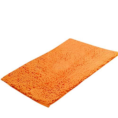 Baijiaye Alfombra de Baño Antideslizante Absorbente Suaves Alfombrilla Chenilla para Bano Cocina Naranja...