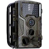 BESTOMZ Cámara de Caza con 1080P HD 42 LED Cámara de Exploración Infrarroja de Visión Nocturna Cámara Resistente al Agua Cámara de Observación de Fauna Salvaje (Velocidad de camuflaje / activación 0.5 s)