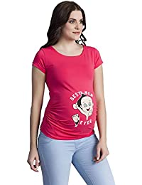 Best Mom Ever - Camiseta premamá Divertida con impresión para el Embarazo, Manga Corta