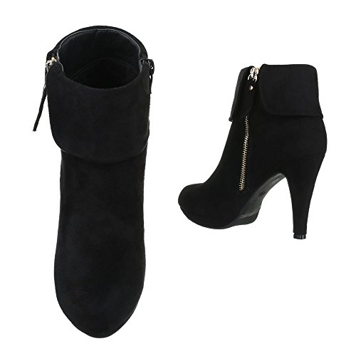 Ankle Boots Alto Ital Calçados Estilete Pfennig Femininos design Preto De Salto Salto Escorregar Botas Saltos Zipper 5fqp65T