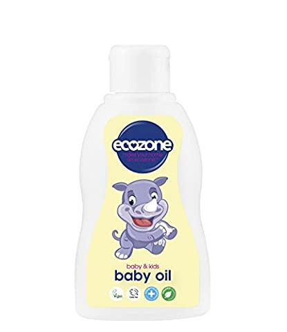 Ecozone Organic Baby Oil 200ml, Paraben free, SLS/SLES free, PEG/PPG free, Silicone free, Organic ingredients, Palm oil free, Dermatologically tested, Vegan, Cruelty