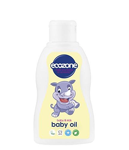 Ecozone Organic Baby Oil 200ml, Paraben free, SLS/SLES free, PEG/PPG free, Silicone free, Organic ingredients, Palm oil free, Dermatologically tested, Vegan, Cruelty free.
