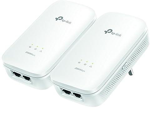 TP-Link CPL AV2000 (Débit 2000 Mbps), 2 ports Ethernet Gigabit, Pack 2 CPL (TL-PA9020 KIT)