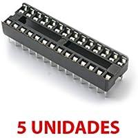 5X Zócalo DIP28 28 Pines pin Socket doble contacto Arduino prototipos