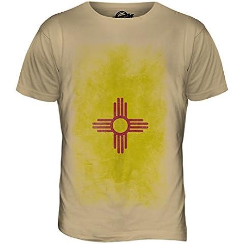 CandyMix Nuovo Messico State Sbiadito Bandiera T-Shirt da Uomo Maglietta