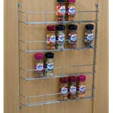 Four tier Back of door Spice, jar & packet rack -Chrome by Top Home Solutions