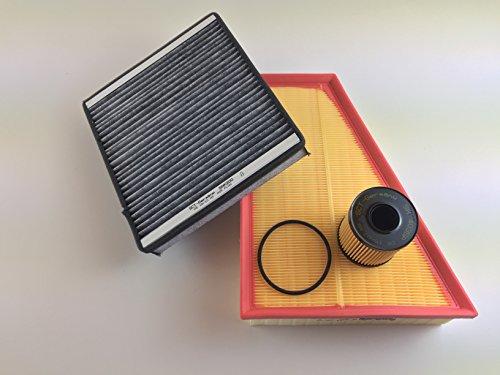 Ölfilter Luftfilter Innenraumfilter mit Aktivkohle Inspektionskit Filter Kit Filter Set Service Kundendienst 824 Kit
