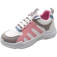 beautyjourney Zapatillas de Plataforma de Mujer Calzado Deportivo de Fondo Grueso Zapatos para Correr Zapatos de