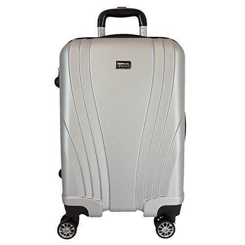 Trolley Bagaglio a mano ABS rigido 8 ruote FG Travel nero IDONEO RYANAIR Cm.55x38x23 ABS RIGIDO 4 RUOTE Cm.52x37x19 Bagaglio a mano