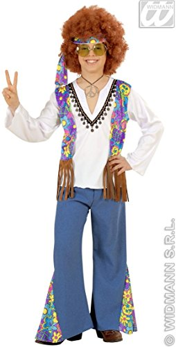 Déguisement hippie bleu garçon - 7 à 9 ans