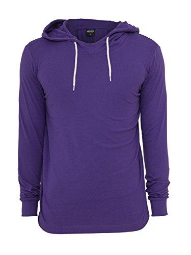 Urban Classics Jersey Hoody Longsleeve grau Purple