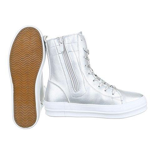 Ital-Design, Sneaker donna Argento