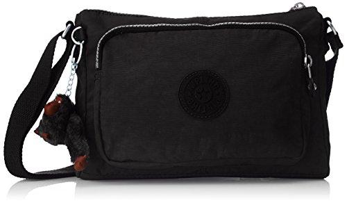 Kipling Damen Duo Offer Ii Schultertasche, 18x24.5x10 cm Schwarz (Black)