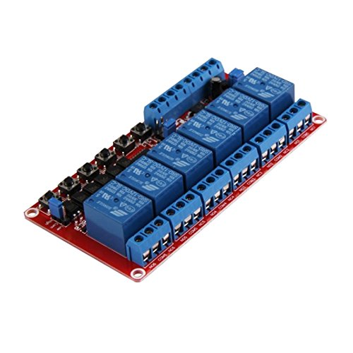 SODIAL Modulo de rele de enclavamiento 12V de 12 canales Interruptor controla...