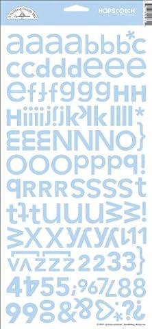 Stickers - Font Doodlebug Designs Hopscotch Card Stock Stickers, Bubble Blue