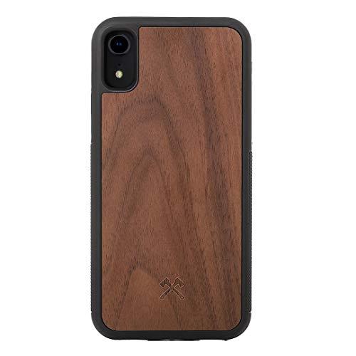 Woodcessories - Hülle kompatibel mit iPhone Xr aus FSC Holz - EcoBump Case (Walnuss)