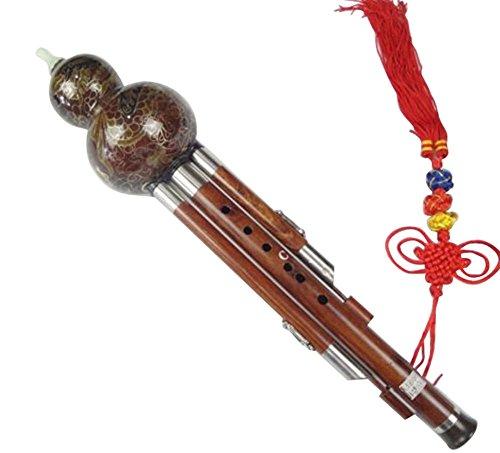 100% Handgeschnitzte Standard Hulusi – Blasinstrument Chinesische Flöte #108T