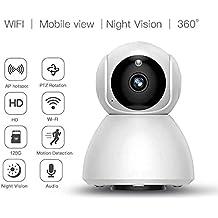 Jumedy Cámara inalámbrica, cámara WiFi 720p con Audio, cámara de Seguridad para bebés con