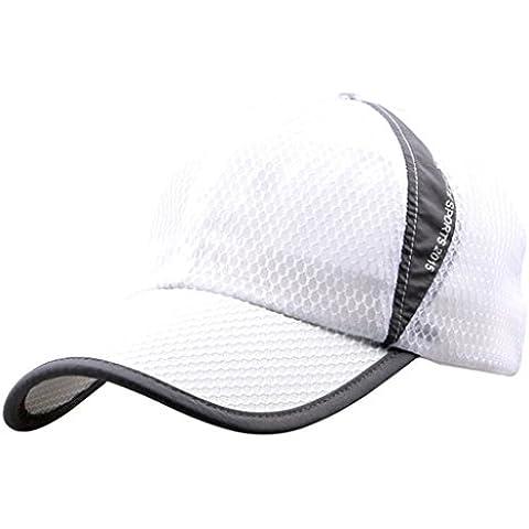 G7Explorer Mesh Speed Drying Breathable Running Cap Only 2.3 Ounces (White)