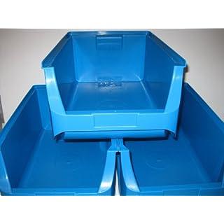 3 Stacking Boxes, Storage Boxes, Display Boxes, Allit Size 5 blue W = 310 x D = 500 x H = 300 mm ProfiPlus