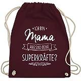 Muttertag - Ich bin Mama - was sind deine Superkräfte - Turnbeutel & Gym...