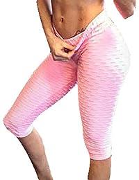 Yying Leggins Mujer Deporte Activo Fitness Running Yoga Pantalones Push Up  Gimnasio Polainas Tramo Pantalones Shorts b7f1f39585b9