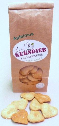 Keksdieb Apfelmusherzen - Hundekeks natürlich natur apfelmus (100 g)