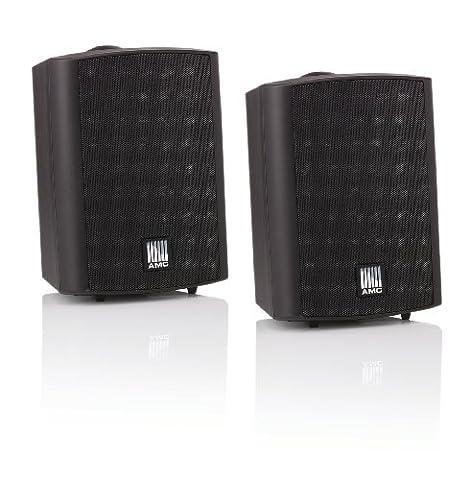 AMC POWER BOX 5 RAL9017 aktives Stereo Lautsprecherboxen System (2-Wege) schwarz