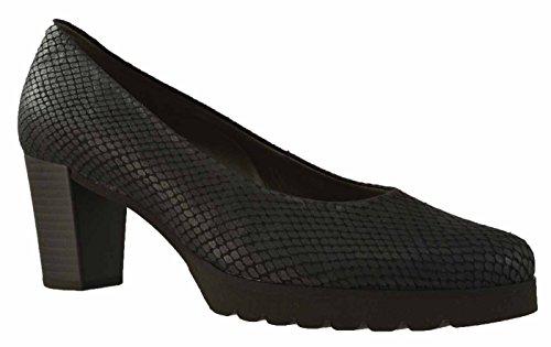 Gabor 35260-87 - Damenschuhe Modische Pumps / Ballerina, Schwarz, Cobra Aspide ( Leder ), Absatzhöhe: 50 mm Schwarz