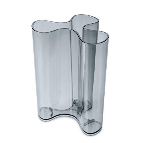 koziol Vase Clara L, Kunststoff, transparent anthrazit, 11.5 x 12.5 x 16.6 cm Clara Vase
