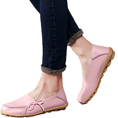 Vogstyle Donna Scarpe Basse A Pantofola Casual Scarpe Basse Piselli Scarpe Rosa-art 1
