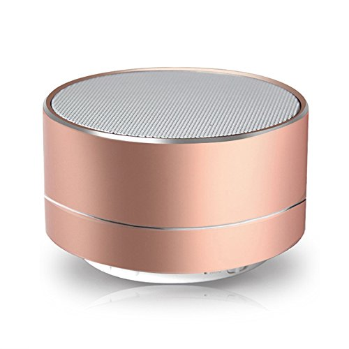 qianfuyin Neue drahtlose tragbare Bluetooth-Lautsprecher, Mini-Metall Bluetooth-Lautsprecher für iPhone, Auto, TV, USB und TF-Karte Port, langlebig und kompakt,