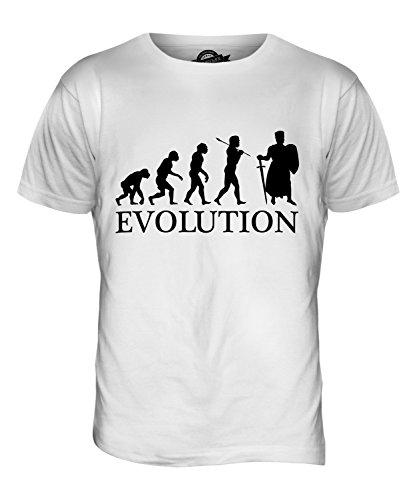 CandyMix Ritter Kreuzzug Evolution Des Menschen Herren T Shirt Weiß