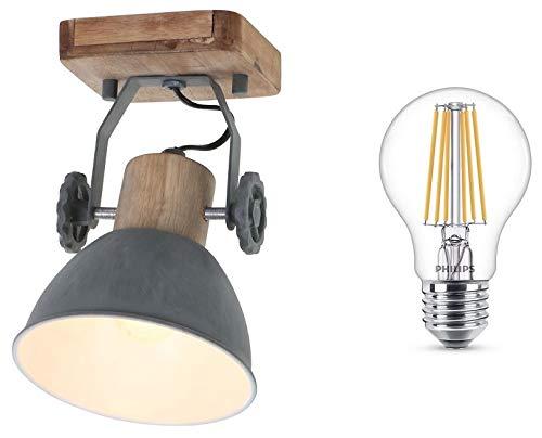 STEINHAUER 7968GR Deckenlampe Vintage Deckenleuchte Industrie Strahler Spot Lampe Edison Leuchte Retro LED !