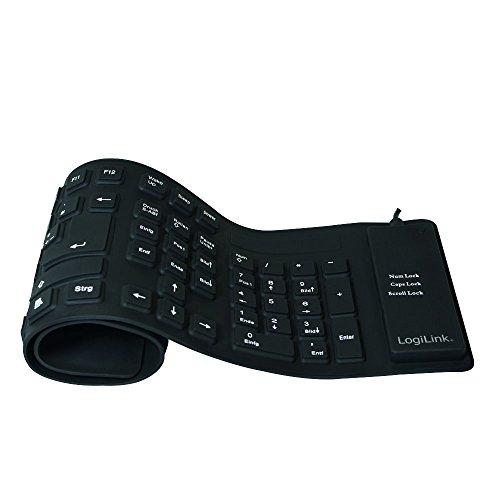 Usb-tastatur-anschluss (LogiLink Tastatur Flexibel Wasserfest USB mit PS/2 schwarz)
