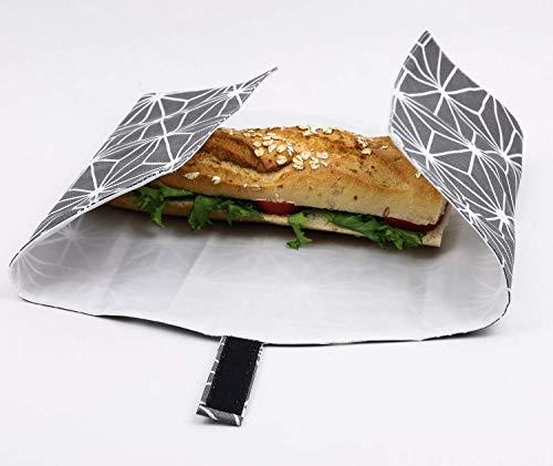 Vegane Picknick Tasche. Wiederverwendbare und wasserabweisend. Umweltfreundliche Lösungen. -