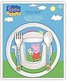 Peppa Pig 785256 - Peppa Pig Set 5 Pezzi per Microonde, Multicolore