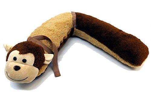 Preisvergleich Produktbild Brigamo 791941 - Kinder Schlafkissen inkl. Decke Reisekissen Nackenkissen, Plüschkissen kuschlig weich mit lustigem Affen Motiv