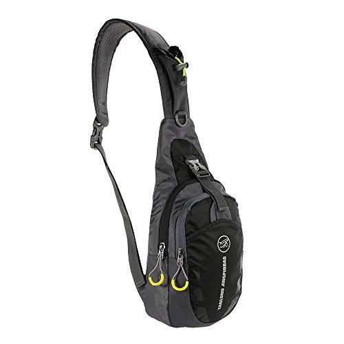 Docooler Sacchetto Petto Bicicletta Escursionismo Campeggio Viaggio Viola nero
