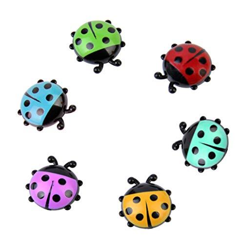 Winkey Funny Cartoon Tiere Panda Kühlschrank Magnet Aufkleber Kühlschrank Geschenk Home Decor, Plastik, 6pcs Ladybug, 2.8-4.3cm -