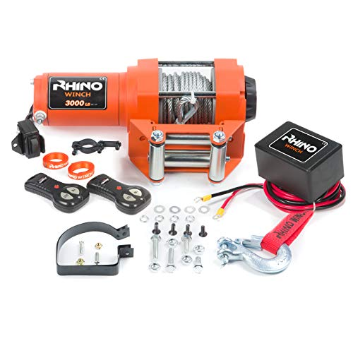 Rhino Electric Winch Wireless 3000Lb / 1360Kg 12v Test