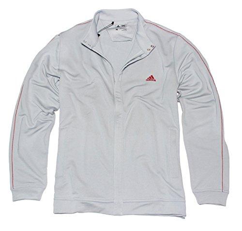 adidas Golf Herren (Full Zip Jacke Jersey, Herren, Chrom, XXL -