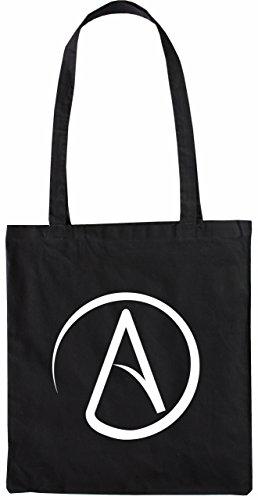 Mister Merchandise Tasche Atheismus Atheist Atheism Stofftasche , Farbe: Schwarz Schwarz