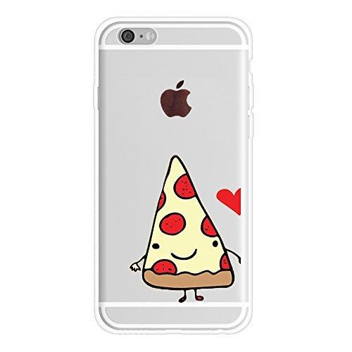 pizaa und Bier Friends Forever BFF Freund Freundin Paar Passende Geschenke Stuff iPhone Fällen Weiches Gummi iPhone 6,6s Fällen, 1 Case-Pizza for iPhone 7(iPhone 8)