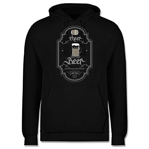 Statement Shirts - Cheer Beer - Männer Premium Kapuzenpullover / Hoodie Schwarz