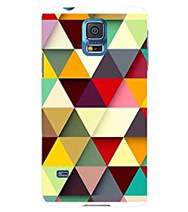 MULTICOLOURED TRIANGULAR PATTERN 3D Hard Polycarbonate Designer Back Case Cover for Samsung Galaxy S5 Mini :: Samsung Galaxy S5 Mini G800F