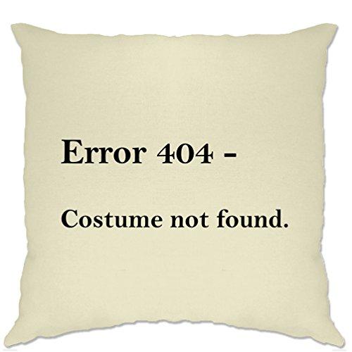 Tim And Ted Nerdy Halloween Kissenhülle Fehler 404, Kostüm Nicht gefunden Natural One Size