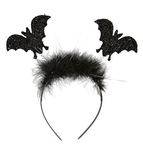 Widmann - cerchietto pipistrello unisex-child, nero, taglia unica, vd-wdm9807b