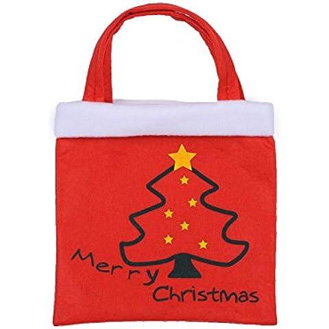 Molie Árbol de Navidad dulces bolsas regalo presente, Pack de 4